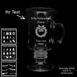 Tee- oder Glühweinglas - MERRY XMAS - mit Motivauswahl und individueller Gravur / Text