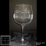 Rotweinglas - Blumenranke - mit Motivauswahl und individueller Gravur / Text