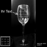 Weißweinglas - Blumenranke - mit Motivauswahl und individueller Gravur / Text