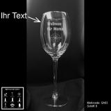 Weißweinglas - Sailor - mit Motivauswahl und individueller Gravur / Text