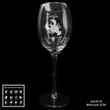 Weißweinglas - Sternzeichen - mit Motivauswahl und individueller Gravur / Namen und Datum