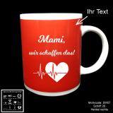 Tasse rot - Schwangerschaft - mit Motivauswahl und individueller Gravur / Spruch