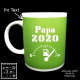 Tasse grün - Schwangerschaft - mit Motivauswahl und individueller Gravur / Spruch