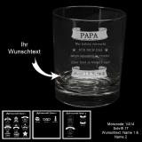 Whiskeyglas - für deinen Vater mit Motivauswahl und individueller Gravur