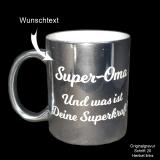 Silber Keramik-Tasse mit Ihrem Spruch
