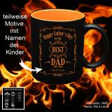 Tasse schwarz + orange - zum Vatertag