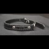 Hundehalsband - Boss - schwarz Größe S inklusive Metallschild mit Gravur