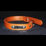 Hundehalsband - Boss - braun Größe M inklusive Metallschild mit Gravur