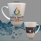 Konische Tee-Tasse Happy Water Team - Change your water - Change your life