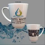 Konische Tee-Tasse Happy Water Team - Change your water - Change your life