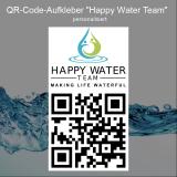 QR-Code-Aufkleber Happy Water Team (5 Stück) - DIN A7