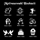 Schuhsohlen-Gravur - Hochzeit - mit Motivauswahl und individueller Gravur / Namen und Datum