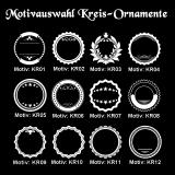 Weißweinglas - Vintage Circle - mit Motivauswahl und individueller Gravur / Name und Spruch
