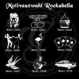 Flachmann - Rockabella - Chrom-Poliert 8 oz mit Wunschmotiv und individueller Gravur / Name