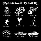 Tasse rot - Rockabilly / Rockabella - mit Motivauswahl und individueller Gravur / Name