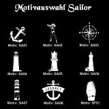 Schnapsglas - Sailor - mit Motivauswahl und individueller Gravur / Namen und Datum