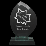 Pokal Jadeglas mit Ihrem Motiv oder Foto und Ihrem Wunschtext