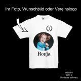 Kids T-Shirt Deluxe - Geburtstagsshirt mit Foto-Aufdruck - Shirt-Farbe: schwarz oder weiß