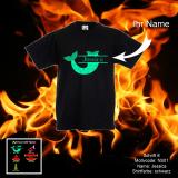Kids T-Shirt Deluxe - Meerjungfrau, Melone oder Ananas mit Name - Motiv frei wählbar - Shirt-Farbe: schwarz oder weiß