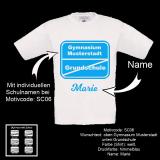 Kids T-Shirt Deluxe - Kindergarten / Schule - Motiv frei wählbar - Shirt-Farbe: schwarz oder weiß