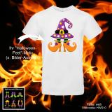 T-Shirt Halloween - Lustige Füße - Shirt-Farbe: schwarz oder weiß