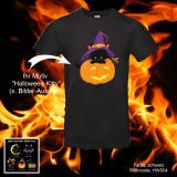 T-Shirt Halloween - schwarze Katze - Shirt-Farbe: schwarz oder weiß