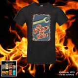 T-Shirt - High Quality Rundhals - Vintage Plakette - Shirt-Farbe: schwarz oder weiß