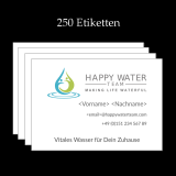 Etiketten, UV-Lack, witterungsbeständig, Happy-Water-Team (250 Stk)