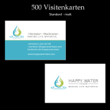 Visitenkarten Happy Water Team Standard matt (500 Stk)