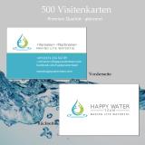 Visitenkarten Happy Water Team Premium glänzend (500 Stk)