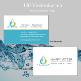 Visitenkarten Happy Water Team Premium matt (100 Stk)