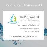 Briefkasten-Schild / Outdoor-Label Happy Water Team - DIN A5 quer