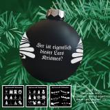 Weihnachtskugel XXL - 10cm - schwarz matt - mit Motivauswahl und individueller Gravur / Text