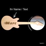 Pizzaschneider - E-Gitarre mit individueller Gravur / Name