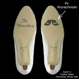 Schuhsohlen-Gravur - Kundenwunsch - mit eigenem Bild und Wunschtext