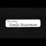 Schild rechteckig mit abgerundeten Ecken und individueller Gravur / Name