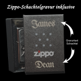Zippo-Feuerzeug - Schalke 04 - chrom satin - optional mit individueller Gravur