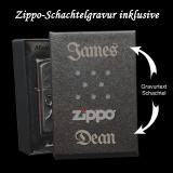 Zippo-Feuerzeug - Eight Ball Tattoo - Farbe: Gelb - optional mit individueller Gravur